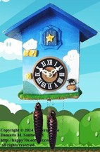 Artistic Recreation of Mario's Brother Game in a Cuckoo Clock - $127.71