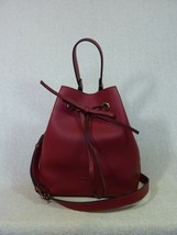 NWT FURLA Cabernet Pebbled Leather Costanza S Drawstring Bucket Tote Bag... - $334.62