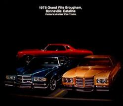 1975 Pontiac Original Brochure Bonneville Catalina Grand Ville Brougham - $7.41