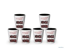I'm a Firefighter shot glass- Not a Miracle Worker -Firefighter Gifts (6) - $29.35