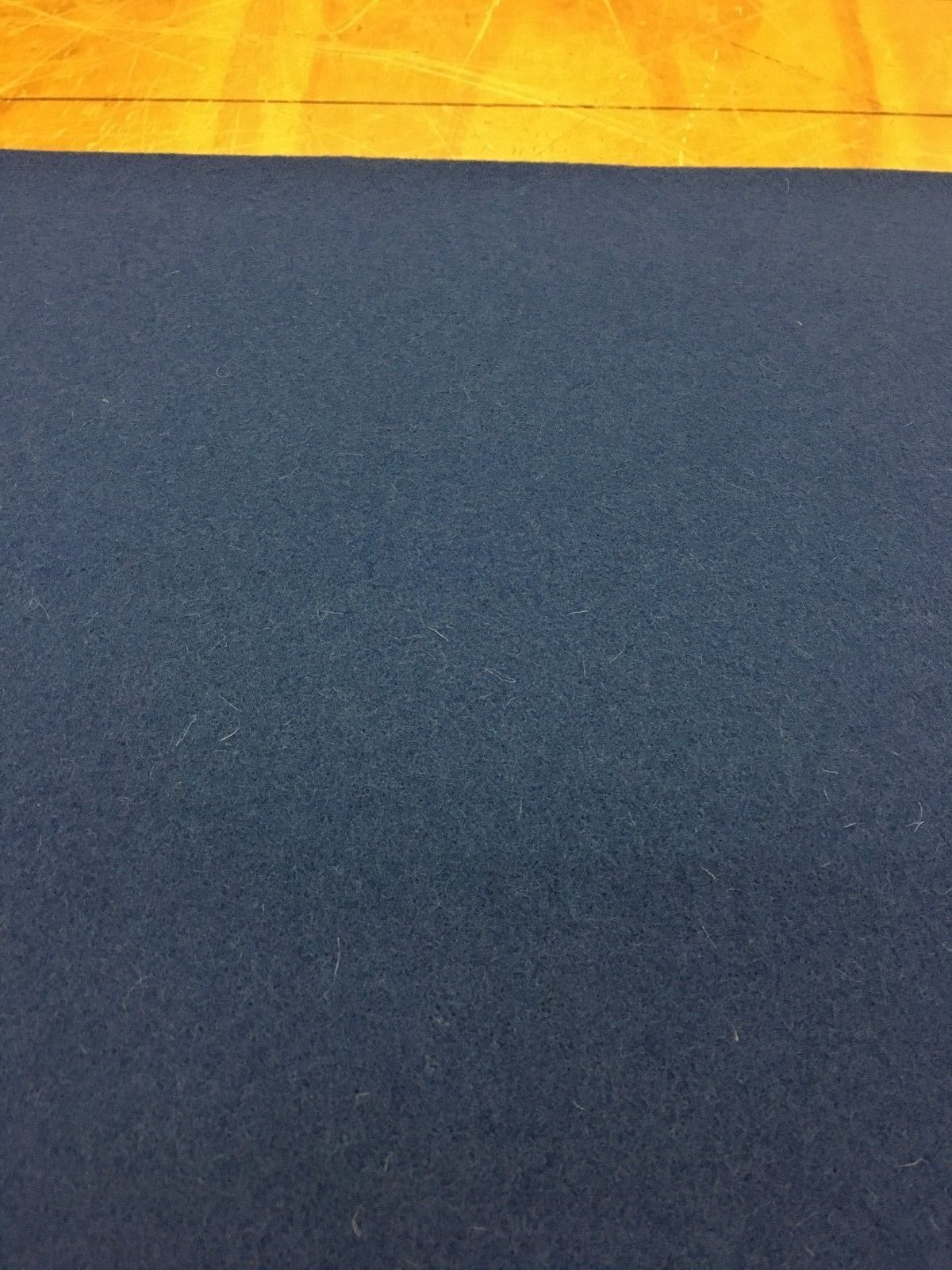 7.5 yds Mid Century Upholstery Fabric Navy Blue Wool AG