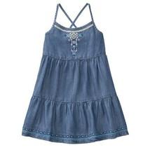 NWT Gymboree True Blue Summer Tiered Denim Chambray Sleeveless Girls Dress - $12.99