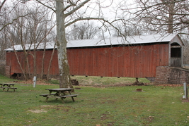 Red Run Covered Bridge 13 x 19 Unmatted Photograph - $35.00