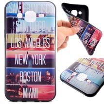 TPU Back Phone Shell for Samsung Galaxy J5 SM-J500F - Cities - $2.44