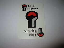 1988 Free Parking Board Game Piece: single Time Expires card - $1.00