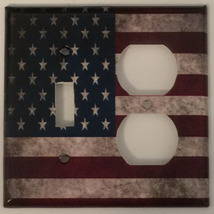 US USA United State Flag Light Switch Power Outlet Wall Cover Plate Home decor image 8