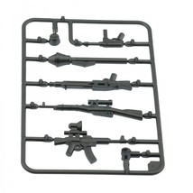 Army military guns weapons pack for lego minifigures minifig accessories set a 4 silver thumb200