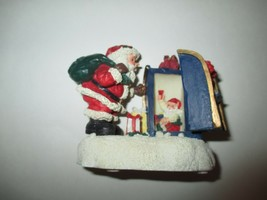 The San Francisco Music Box Company Santa w/ Hinged Mailbox Figurine - $12.99
