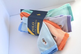 Beautiful Polo Ralph Cotton Mens 10-13 Pastel Athletic Socks 4 Pair Great Deal - $12.00