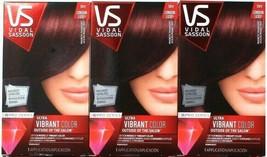 (3) Vidal Sassoon Hair Dye VS Ultra Vibrant 3RV London Luxe Magnetic Mahogany - $29.69