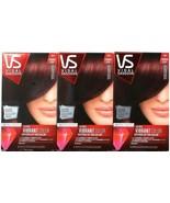 (3) Vidal Sassoon Hair Dye VS Ultra Vibrant 3RV London Luxe Magnetic Mah... - $26.72