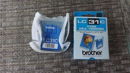 4#i   LC31C Genuine New Brother LC31C, Cyan Ink Cartridge Sealed & in Retail Box - $5.44