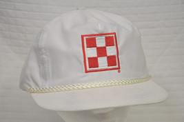 Vtg Ralston PURINA White CHECKER Red LOGO Cap HAT SnapBack Unworn NOS Feed - $26.95
