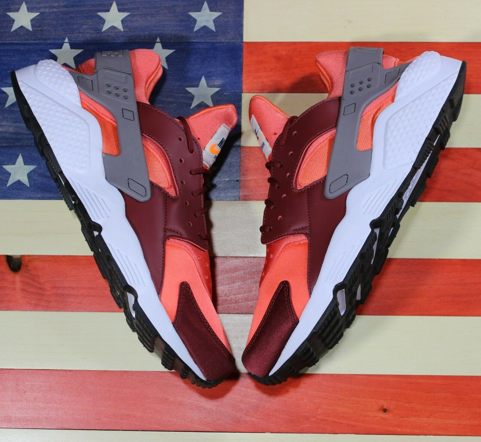 Nike Air Huarache Run Running Shoes Team Red Coral White [318429-054] Men's 11.5