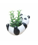 Cute Shabby Chic Resin Panda Planter Vase for Succulents & Plants Decor ... - $19.95