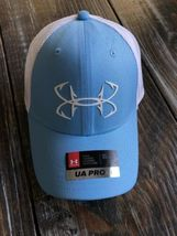 Under Armour Fish Hunter Trucker Hat in Carolina Blue Stretch Fit OSFA M/L image 3