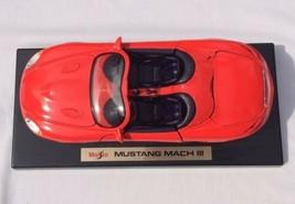 1:18 Maisto Special Edition RED Mustang Mach III -- Die Cast Mach 3  - $11.30