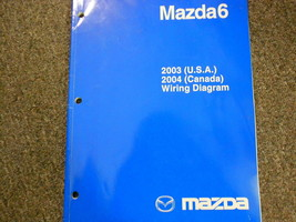 2004 Mazda6 Electrical Wiring Diagram Troubleshooting Manual EWD EVTM New OEM - $148.45