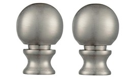 Westinghouse 7000600 Pack of 2 Brushed Nickel Ball Lamp Finials - $25.99