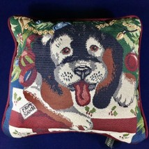 "Vintage Portofino Tapestry ""From Santa"" 12"" Square Dog / Puppy Pillow - $13.98"