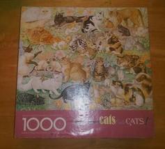 Vintage Springbok Cats Cats Cats Cats Cats 1000 Piece Jigsaw Puzzle VTG - $11.87