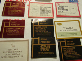 Lot of 20 Sears Phasar analog and digital 2000 quartz watch instruction ... - $91.92