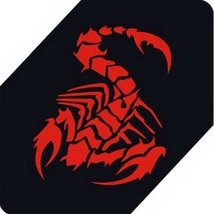 "Scorpion Car Decals Car Sticker Cool Stickers Car Window Sticker RED (5.9"")"