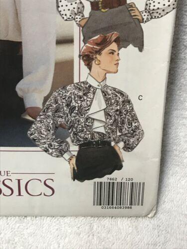 Vogue Classics 7862 Misses Misses Petite Blouse Sewing Pattern