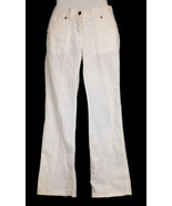 Armani Women's White Boot Cut Flared Denim Jeans Size 29 Made In Italy - $41.93