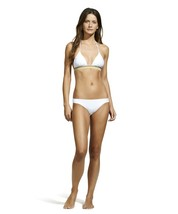 ViX WHITE JUTE TRIANGLE BRAZILIAN BIKINI TOP CHEVRON EMBROIDERY STITCH N... - $1.458,91 MXN