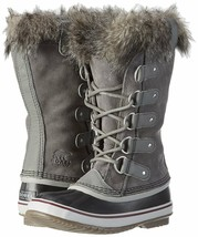 SOREL Womens Quarry/Black Insulated Leather Joan Of Arctic Winter Snow Boots NIB
