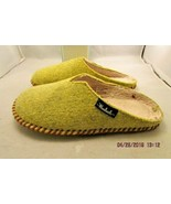 Woolrich Classic Felt Mill Scuff Slippers Lime  Sz Medium 8 -9  unisex s... - $10.39