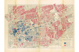 Jewish East London; Historic Map by George Arkell, 1901 - $26.72+