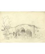 C.A. Hannaford RBA - Mid 20th Century Graphite Drawing, Bridge - $16.14