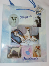 Whippets Greyhounds Gift Bag Dogs Present Handles Blue Tag Best Friend New - $5.93