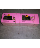 12 pads Post-It Notes Pop Up R-350-NPL 3 x 5 100 sheets/pad Pink & Lime ... - $24.99