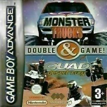 2 Games In 1 - Monster Trucks & Quad Desert Fury (Nintendo Game Boy ADVANCE - $7.44