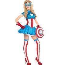 American Dream Costume. Women Size Medium, 68. Marvel SuperHero Captain America