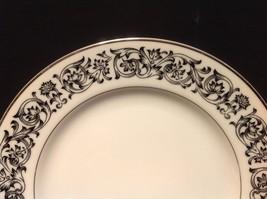 Sango Niagara 3763 Black & White Scroll Platinum Trim Bread And Butter Plate - $3.99