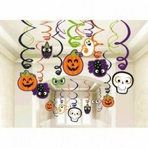 Family Friendly Halloween Creepy Creatures Swirl Ceiling Hanging Decorat... - $10.89