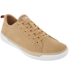 Ryka Suede Lace-Up Sneakers - Olyssia Khaki 7 M - $43.55