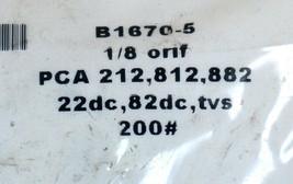 NEW ARMSTRONG B1670-5 PCA 212,812,882 22dc, 82DC, TVS 200# 1/8 ORIF. image 2