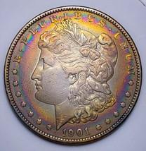 1901   MORGAN SILVER DOLLAR  TONING / KEY DATE.  513 - $220.50