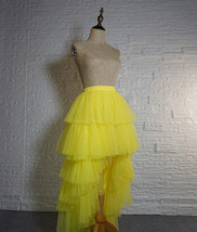 High Low Tulle Skirt Long Layered Tutu Skirt Outfit Plus Size  Brown Tulle Skirt image 7