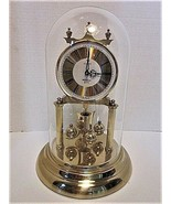 """Sloan Westminster Quartz 12"""" T Clock C Battery Run w/Glass Dome Parts or... - $18.31"""