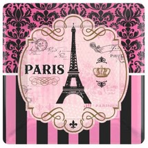 """Day In Paris 8 10"""" Lunch Plates Birthday Party - $6.20"""