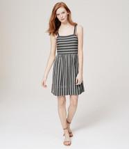 NWT Ann Taylor LOFT 100% Cotton Striped Strappy Flare Summer Beach Dress S/M/L - $39.99