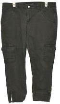 Levi's Women's Gray Cargo Cropped Capri Zipper Leg Denim Pants Size 13 image 1