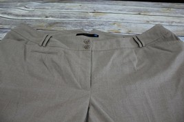 Lane Bryant Womens Dress Pants Brown Size 7 Plus (26) Petite  - $19.34