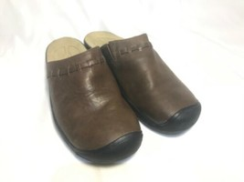Keen Winslow Brown Leather Mules Flats Slip-On Shoes Womens Size US 9 EU 39.5 - $23.75